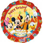 Folienballons Happy Birthday Micky Friends ø45cm
