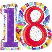 Folienballon 18. Geburtstag 66x71cm
