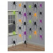 6 Hängedekorationen Spinnen 210cm