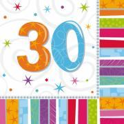Servietten Geburtstag Radiant #30 33x33 cm
