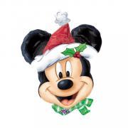 Folienballon Mickey Weihnachten  100x76cm