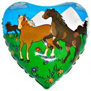 Folienballon Pferde Herz MET