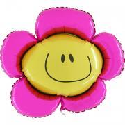 Folienballon Blume MET