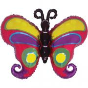 Folienballon Schmetterling Kringel Holo 60x95cm