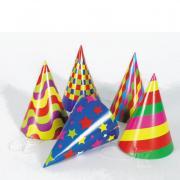 Partyhüte Happy Colors 6 Stück