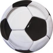 8 Pappteller Fussball 23cm