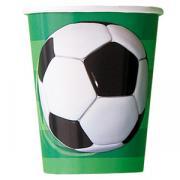 8 Pappbecher Fussball 266ml
