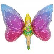 Folienb. lose Schmetterlings Fee 60x80cm