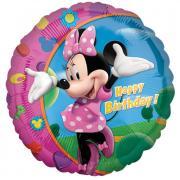 Folienballon Minnie - Happy Birthday ø45cm