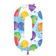 Ballon Riesenzahl Null - 0 Balloons 66cm x 88cm