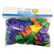 50 Latexballons ø30cm bunter Mix metallic