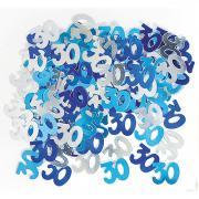 Metallic Konfetti Zahl 30 Blau 14g