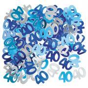 Metallic Konfetti Zahl 40 Blau 14g