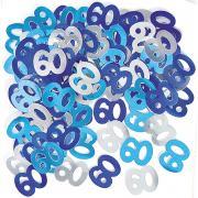 Metallic Konfetti Zahl 60 Blau 14g