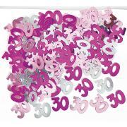 Metallic Konfetti Zahl 30 Pink 14g