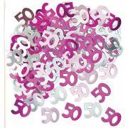 Metallic Konfetti Zahl 50 Pink 14g