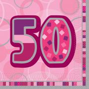 Servietten Glitz Pink #50 33x33 cm 16 Stück