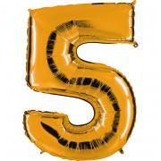 Ballon Riesenzahl Fünf 5 Gold