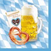 100 Servietten Bayern Oktoberfest 33cm
