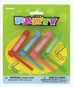 4 Party-Favours Ratsche / Krachmacher