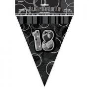 Wimpelkette Glitz #18 Schwarz 274cm