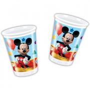 8 Becher Micky Maus Club House 200ml
