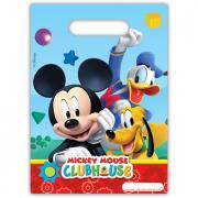 6 Geschenktüten Micky Maus Club House 18x21cm
