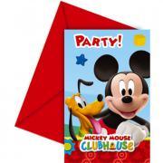 6 Einladungskarten Micky Maus Clubhouse