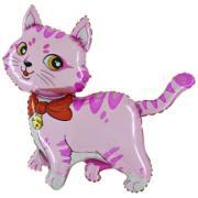 Folienballon Katze Pink MET