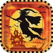 8 Pappteller Spooky Hollow ø23cm