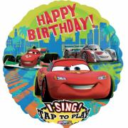 Musikballon Cars Happy Birthday ø71cm
