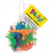 12 Party-Favours bunte Dinosaurier