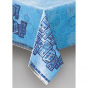 PVC-Tischdecke Birthday Glitz blau 137x213cm