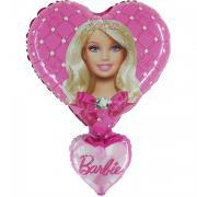 Folienballon Barbie Herzen 80x60cm MET