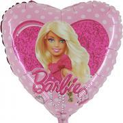 Folienballon Barbie Herz ø45cm