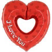 Folienballon I Love You Herz 91cm MET