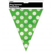 Wimpelkette Dots grün 365cm