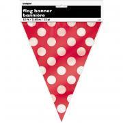 Wimpelkette Dots rot 365cm