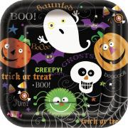 10 Pappteller Spooky Smiles ø18cm