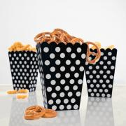 8 Snackboxen Dots Punkte Schwarz
