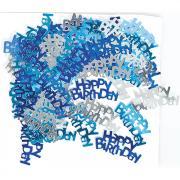 Metallic-Konfetti Happy Birthday blau 14gr