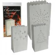 2 Papier-Laternen Christmas 16x26cm