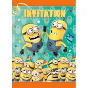 8 Einladungskarten Minions