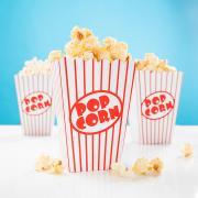 8 Popcorn-Boxen Retro Rot-Weiss 12,7x9,5cm