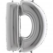 Riesenbuchstabe D Silber 100cm