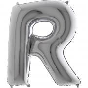 Riesenbuchstabe R Silber 100cm