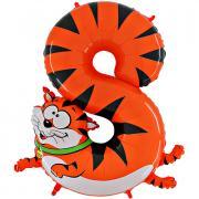 """Tier Ballon Zahl 8 Katze 40""""/101cm"""