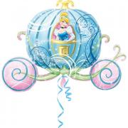 Folienballon Cinderella Kutsche 60x100cm