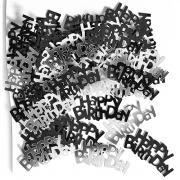 Metallic-Konfetti Happy Birthday Schwarz 14g