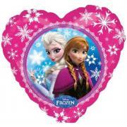 Folienballon Herz Die Eiskönigin Anna & Elsa